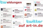 Twittermeldungen zur zeitgenössischen Kunst