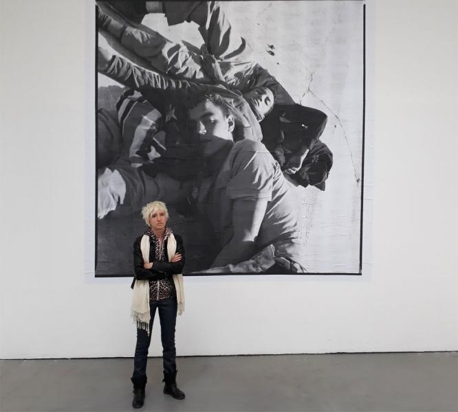 Charlotte Menin im Projektraum Meinblau