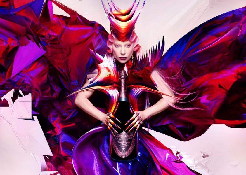 Dom Pérignon und Lady Gaga. ENTER THE QUEENDOM
